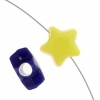 Acrylic Bead Stars Opaque Multi 12mm